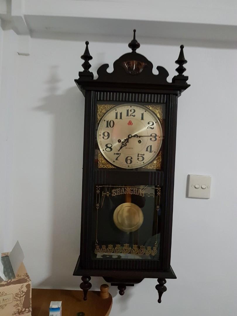 555 Brand Pendulum Clock, Vintage & Collectibles, Vintage