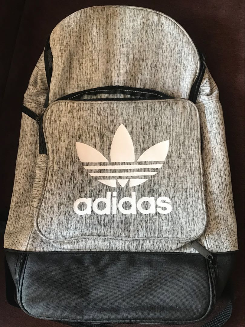 f8467aad85b9 Adidas Authentic Street Casual Backpack in Grey