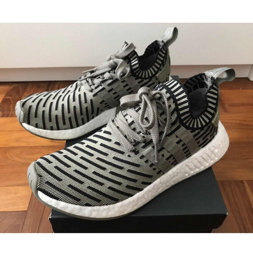 huge selection of 77b0a 8e07f Adidas NMD R2 Primeknit Trace Cargo Olive Green, Men s Fashion ...