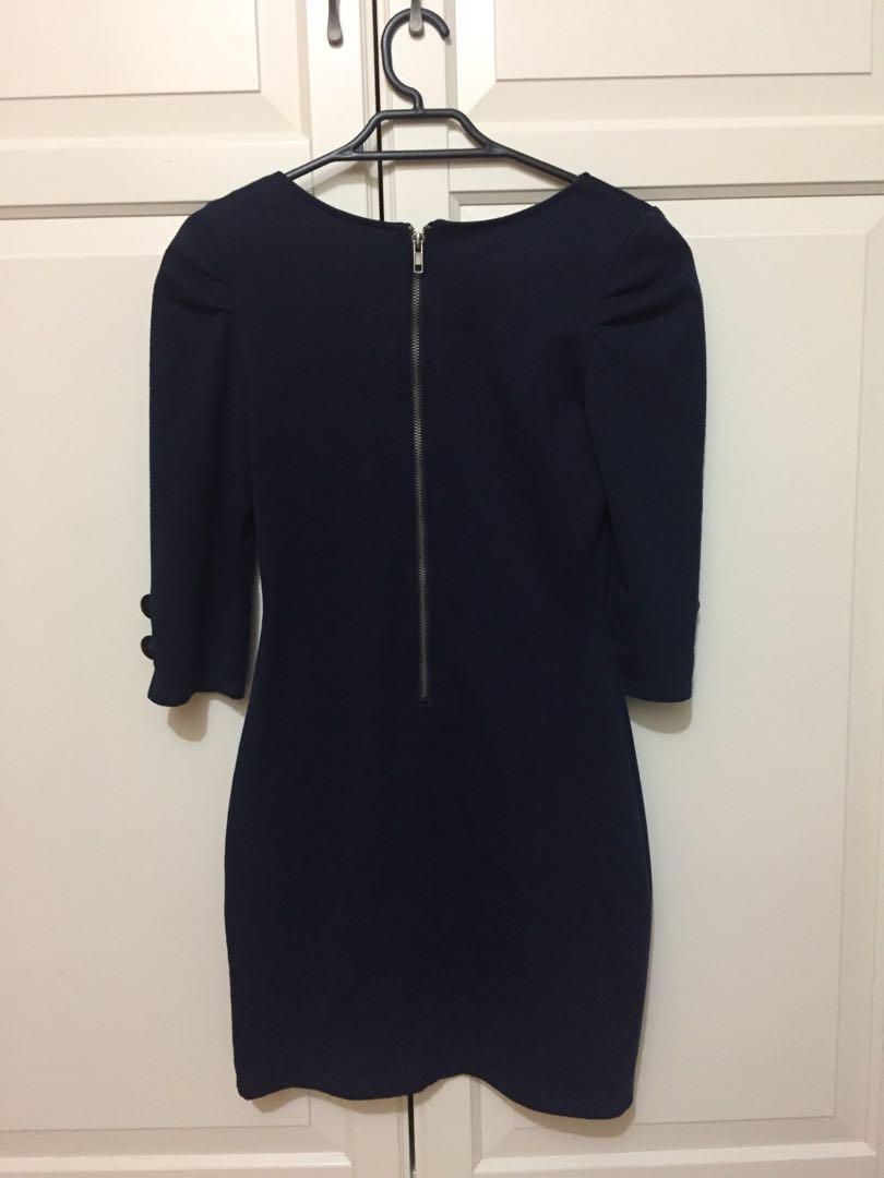 Ally Navy Dress