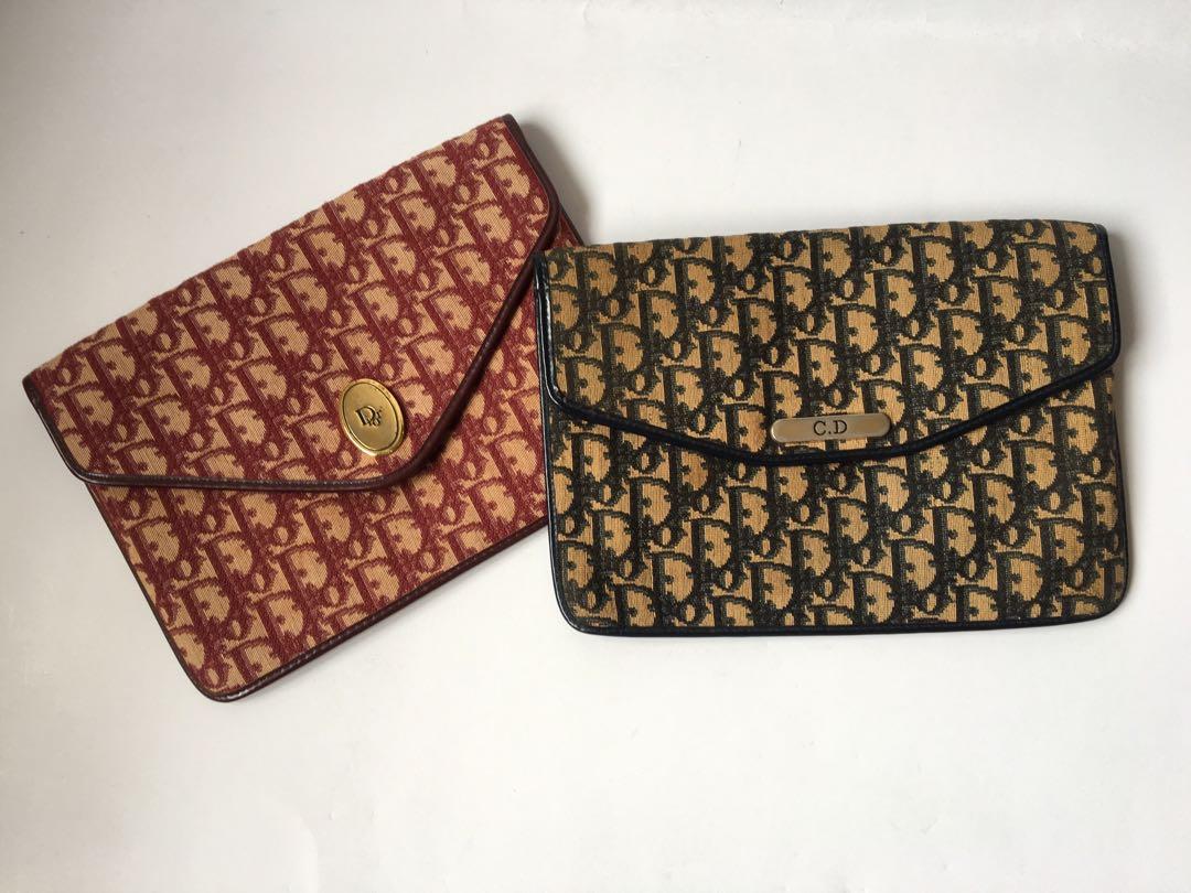 334b50c0242f Authentic Christian Dior Vintage Monogram Envelop Clutch Bag ...