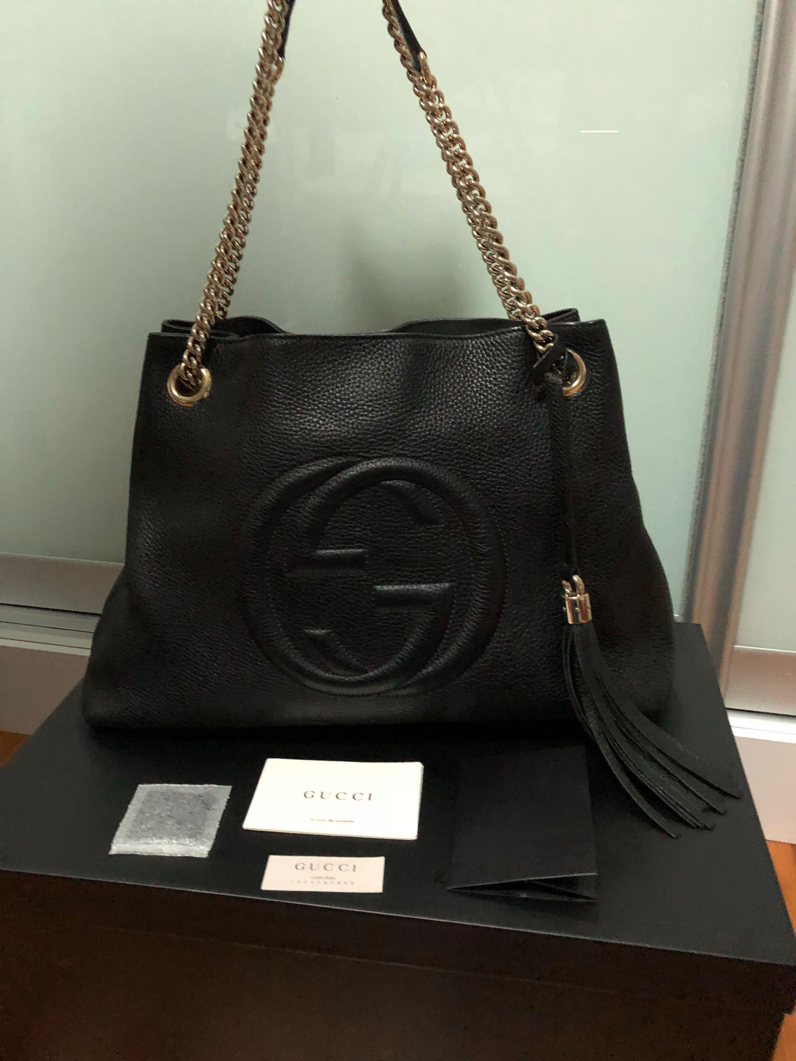 a5de653d7 Authentic Gucci soho chain bag, Luxury, Bags & Wallets, Sling Bags on  Carousell