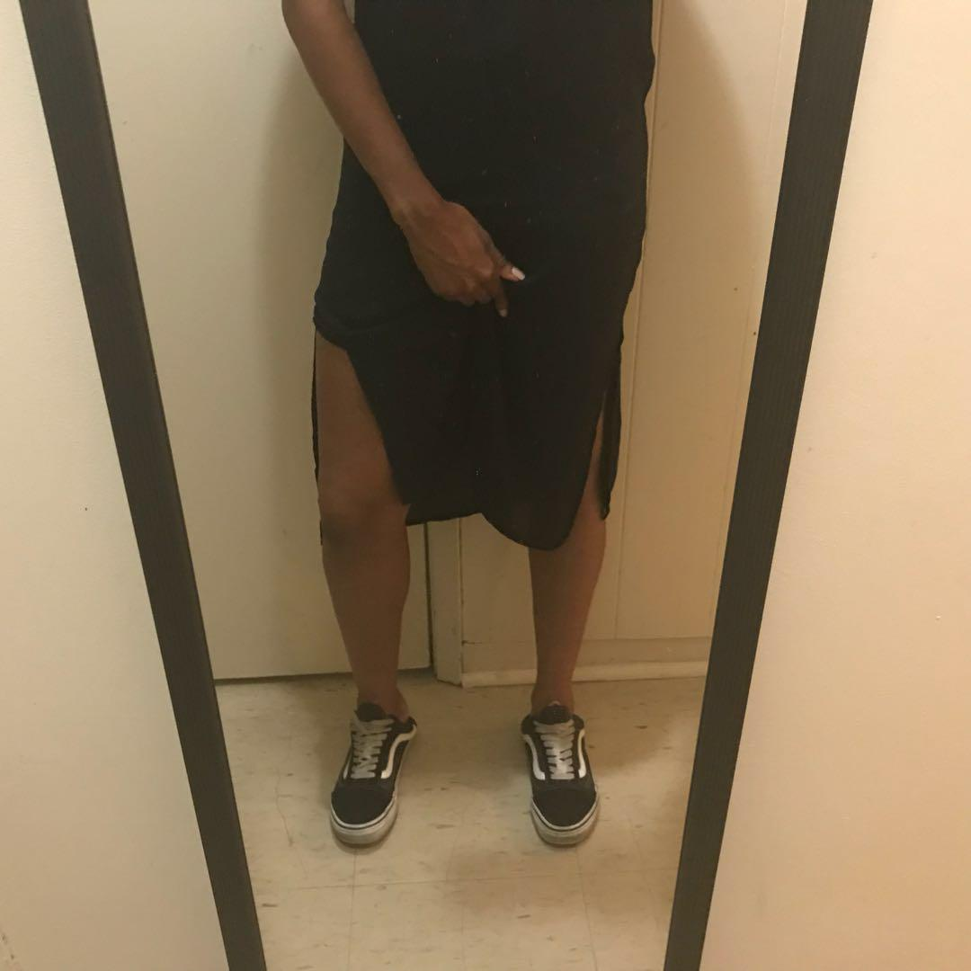 Black slip dress size 4