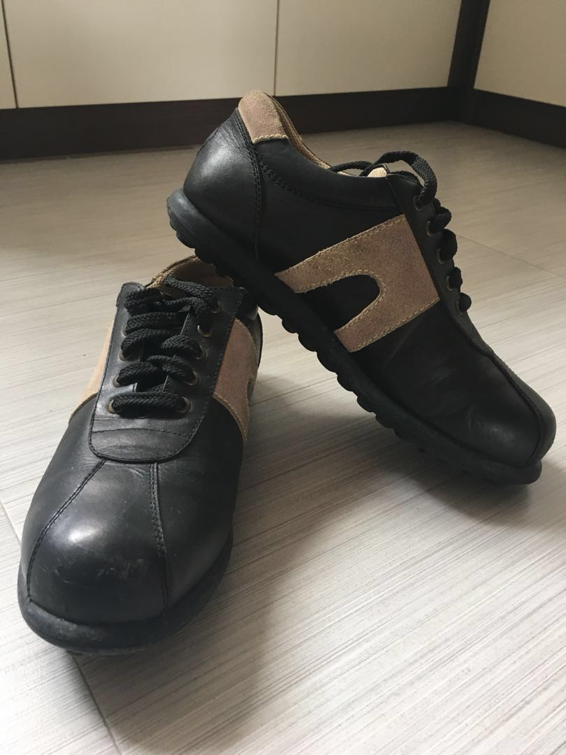 f44f9b1cb4692 CAMPER & BEETLE BUG Brown/Black Leather Shoes, Men's Fashion, Footwear,  Sneakers on Carousell