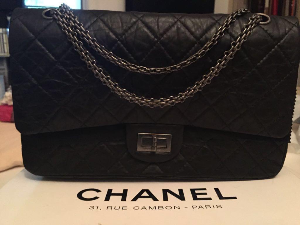 0a4040ce78db Chanel Large 2.55 Handbag ( black ), Women's Fashion, Bags & Wallets ...