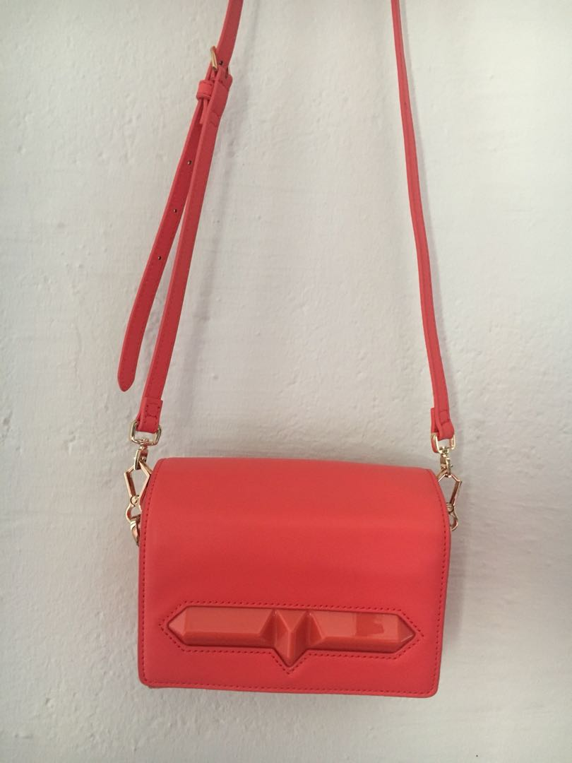 0400e24811a1 Charles & Keith Coral Sling Bag, Women's Fashion, Bags & Wallets ...