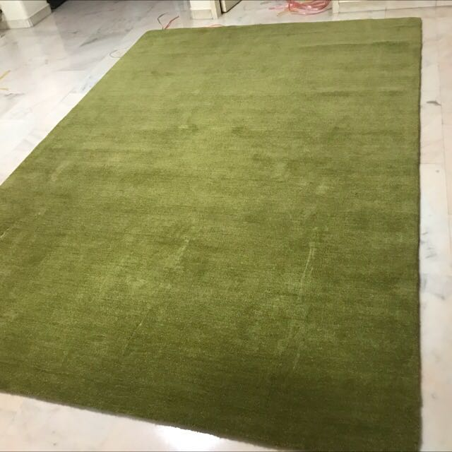 Crate And Barrel Baxter Lemongrass Green Rug Furniture Others On