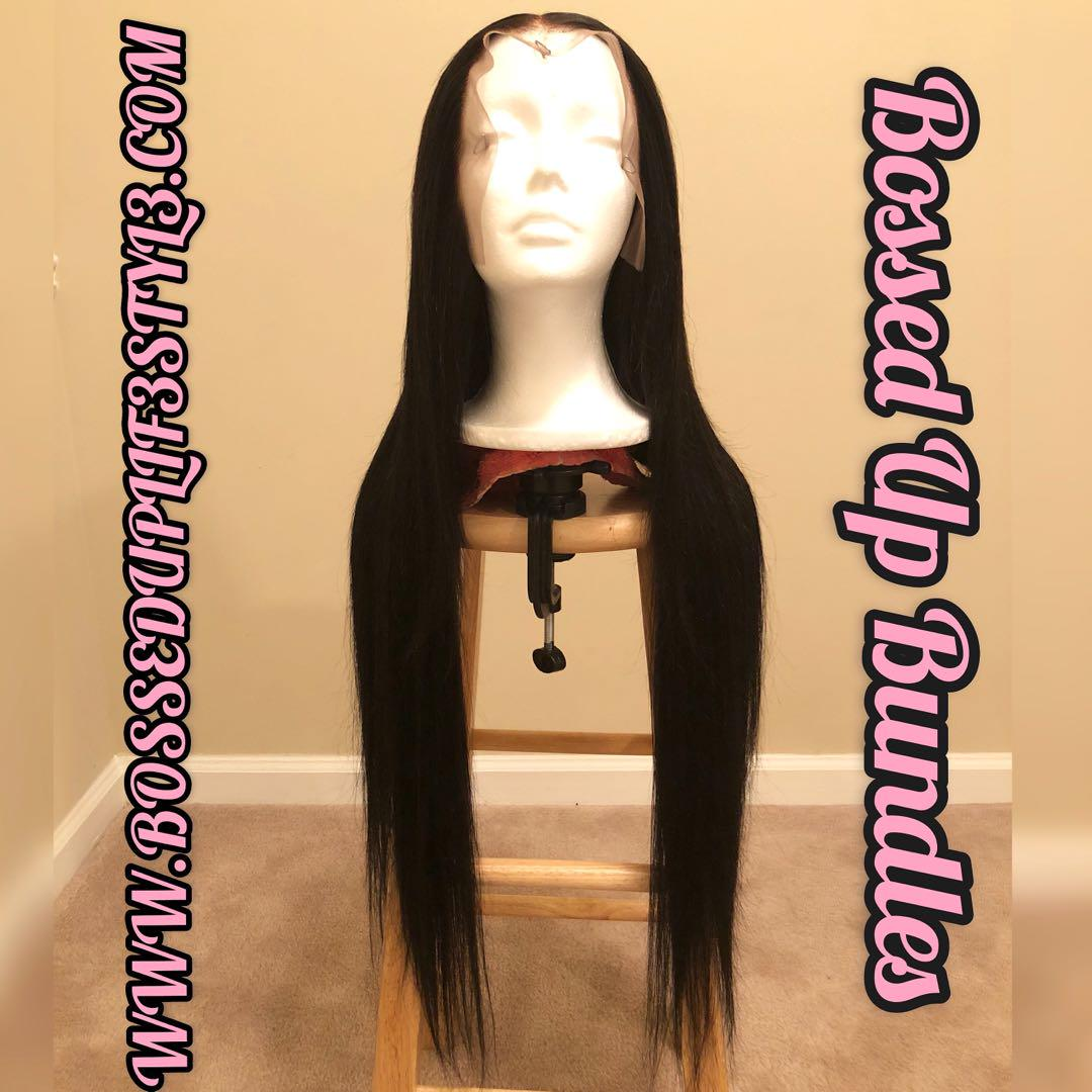Custom made 30inch lace front wig