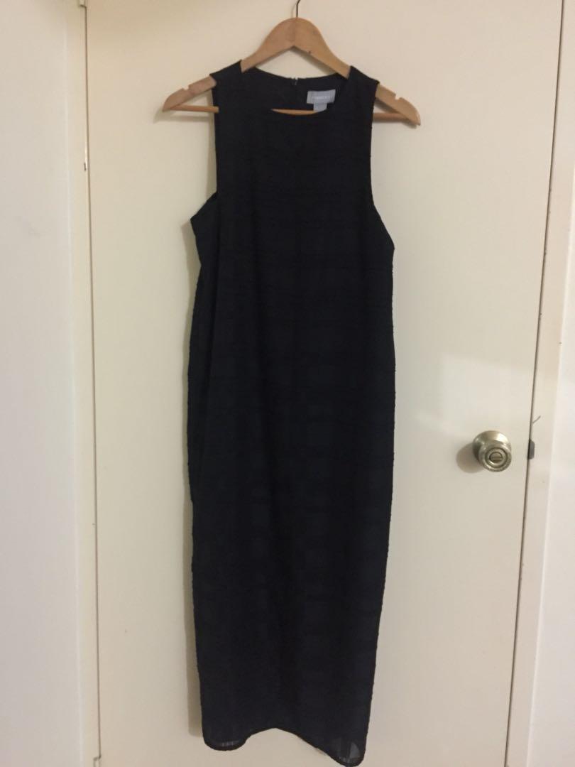 Finders Long Black Dress