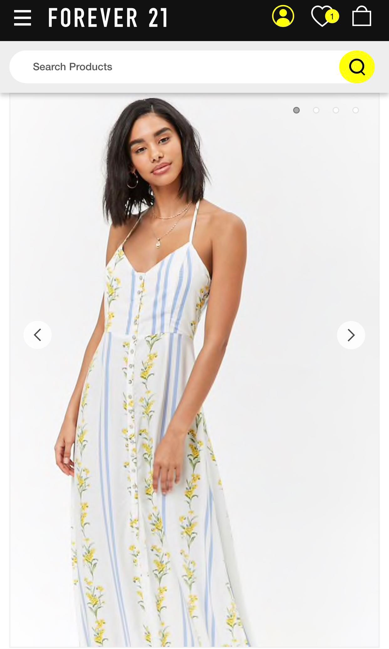 a17c49b0dc8 Forever21 F21 Floral Ruffle Maxi Dress