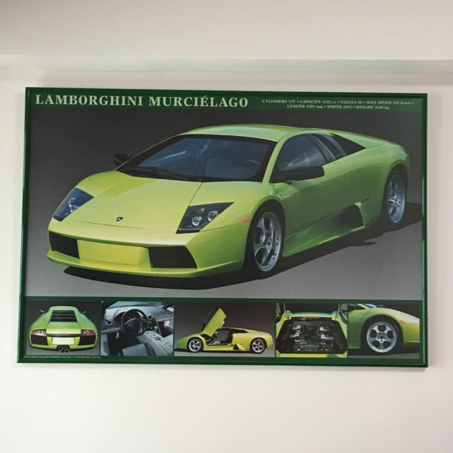 Framed Poster Of Lamborghini Murcielago Design Craft Art