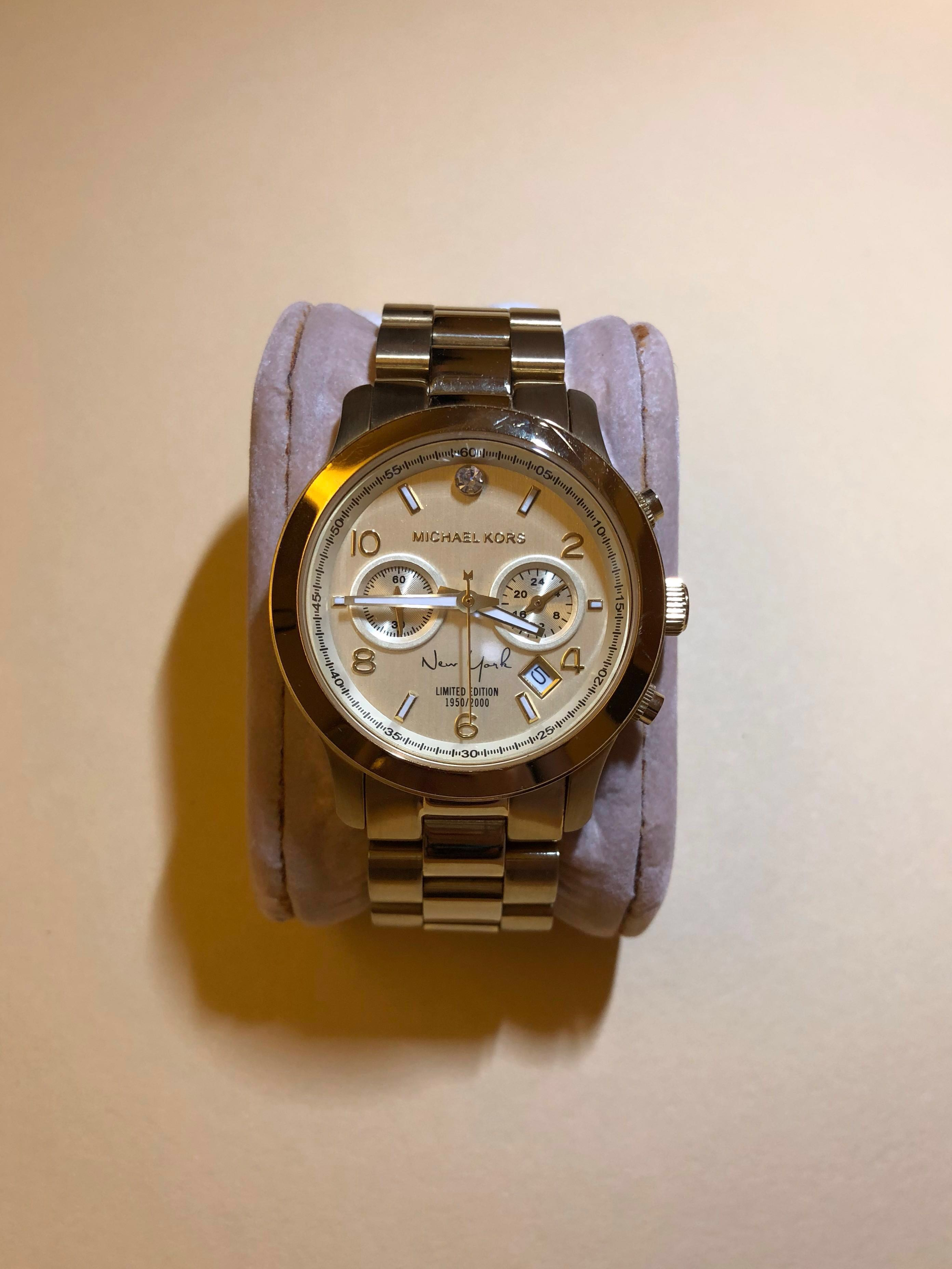 9c02a97e7c66 Gold Michael Kors Watch - Limited Ed. New York