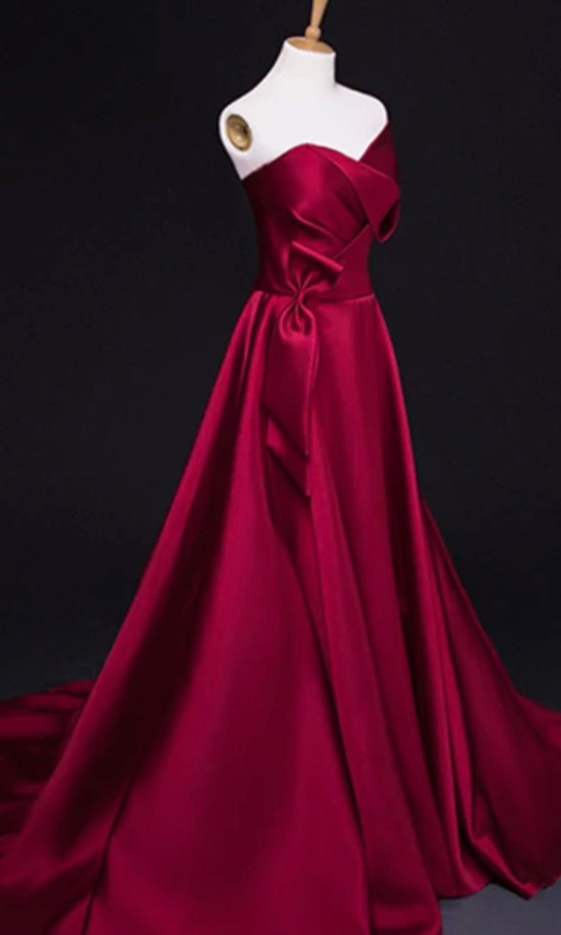 Good quality, gorgeous red wine wedding/event/evening gown, Women\'s ...