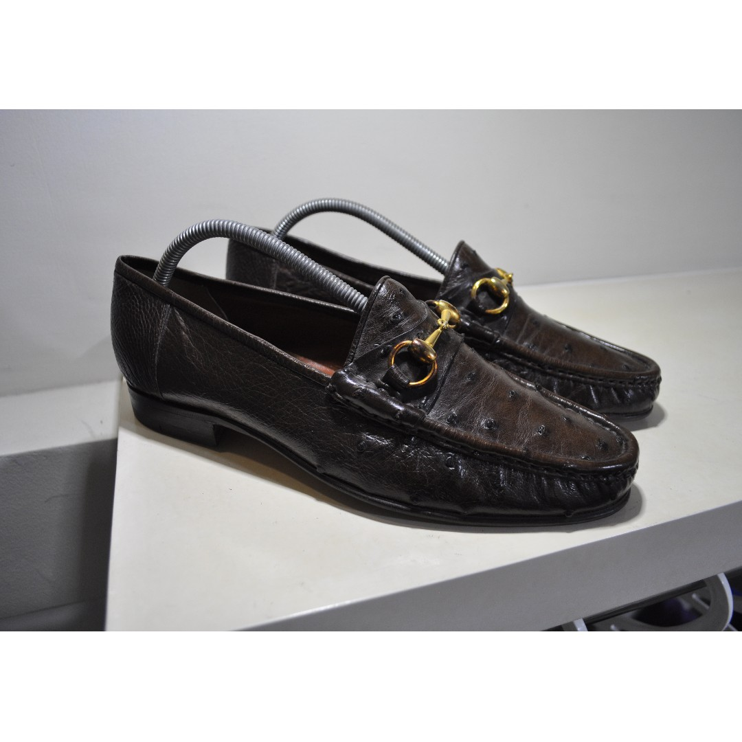 99390b0292 Gucci - Ostrich Leather Horsebit Loafers