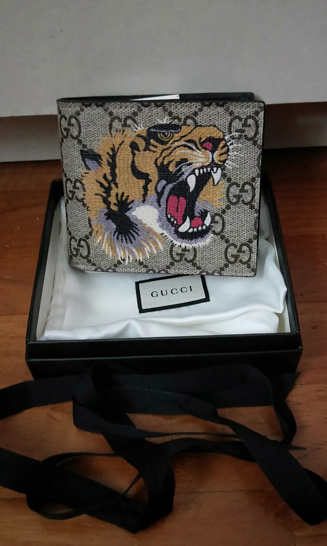 d6636a8c744e94 Gucci Limited Edition Tiger Wallet, Luxury, Bags & Wallets, Wallets on  Carousell