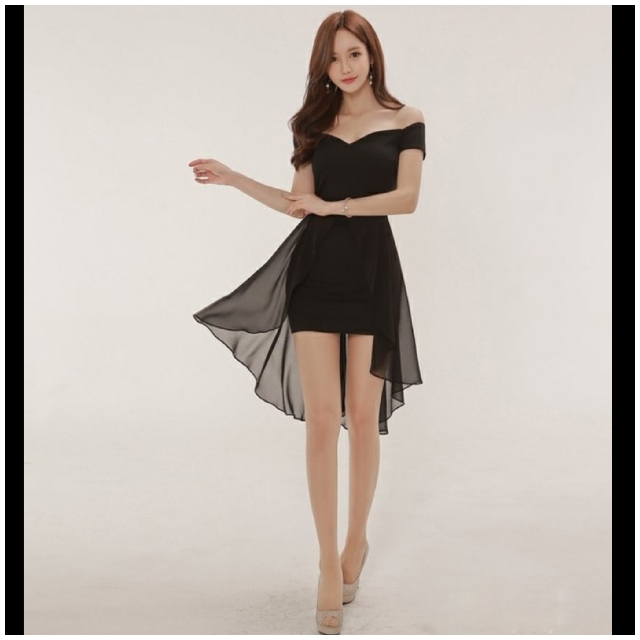 1641bcf4cd98 2 Colours) Korean Sexy Off Shoulder Swallow Tail Flowy Dress ...