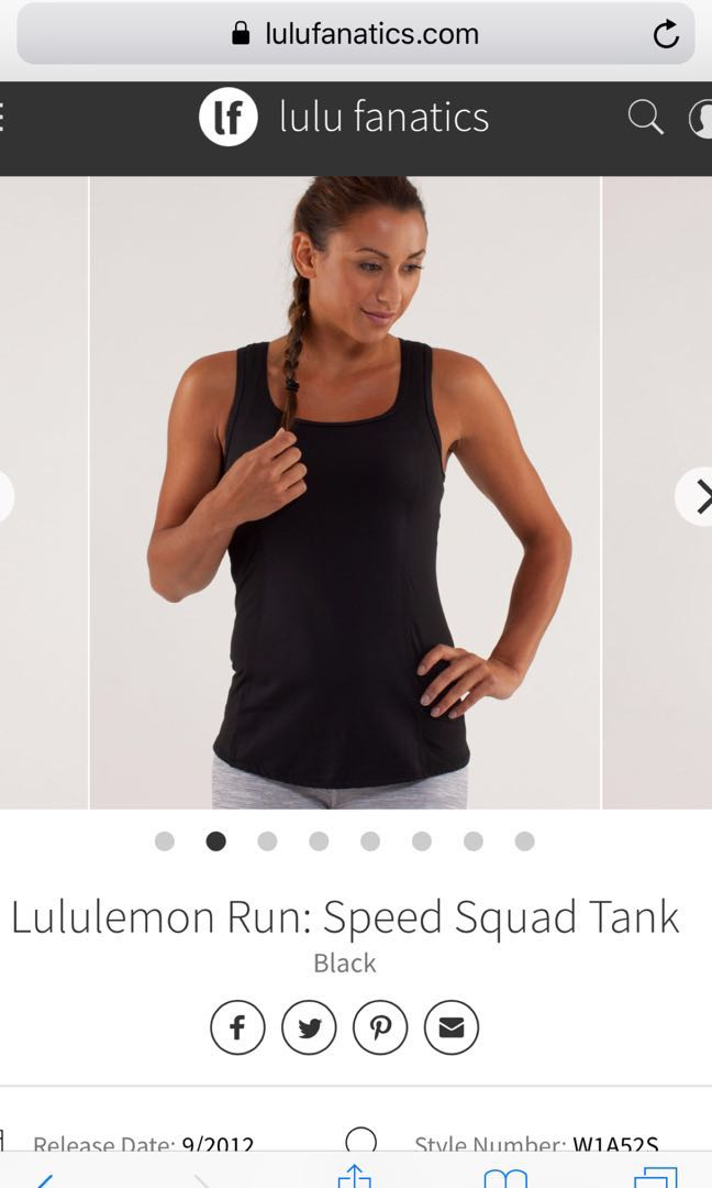 c7b4302c12646e Lululemon run speed squad tank size 8 new
