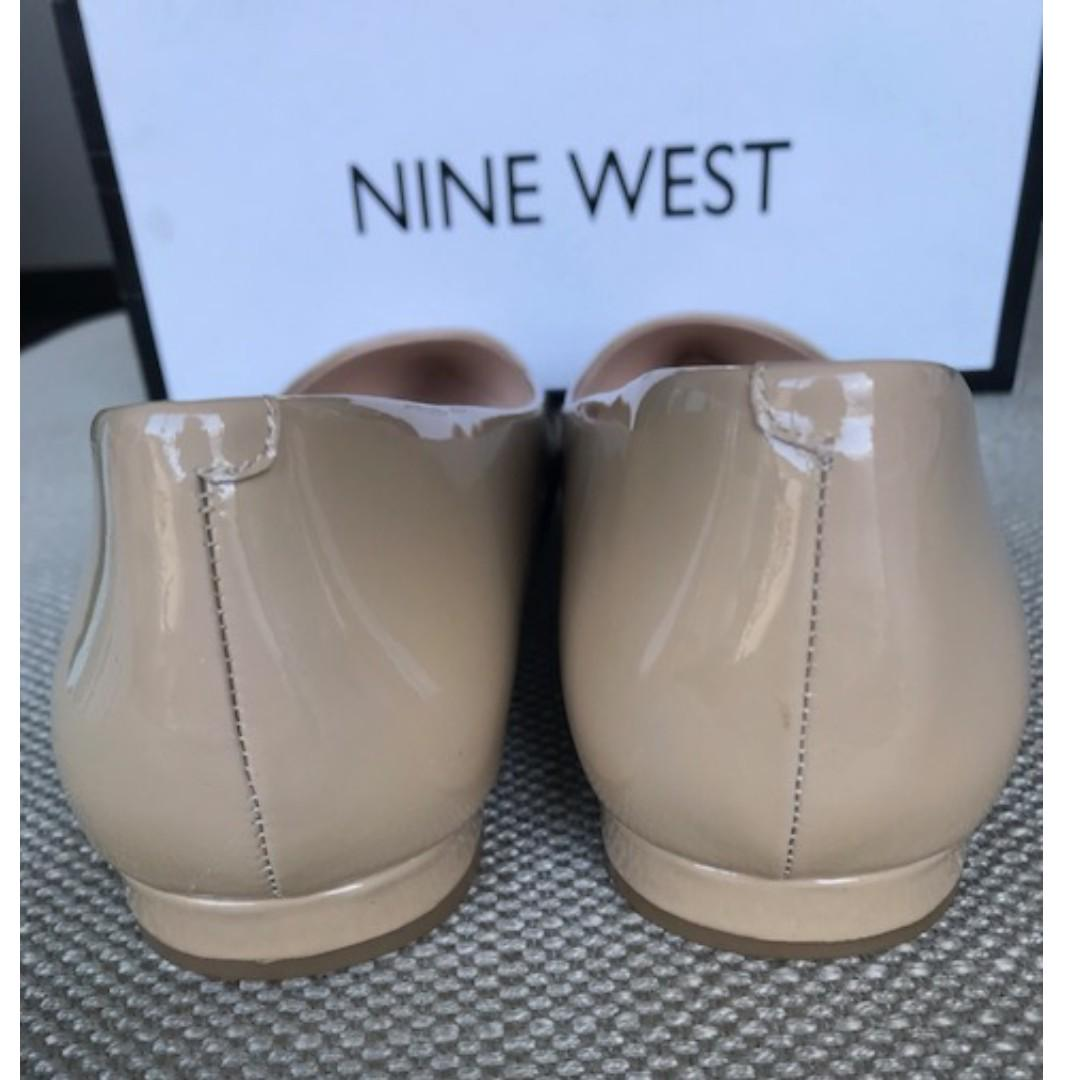 NEW! Nine West, Patent, Natural flats, Size 10M **Free postage**