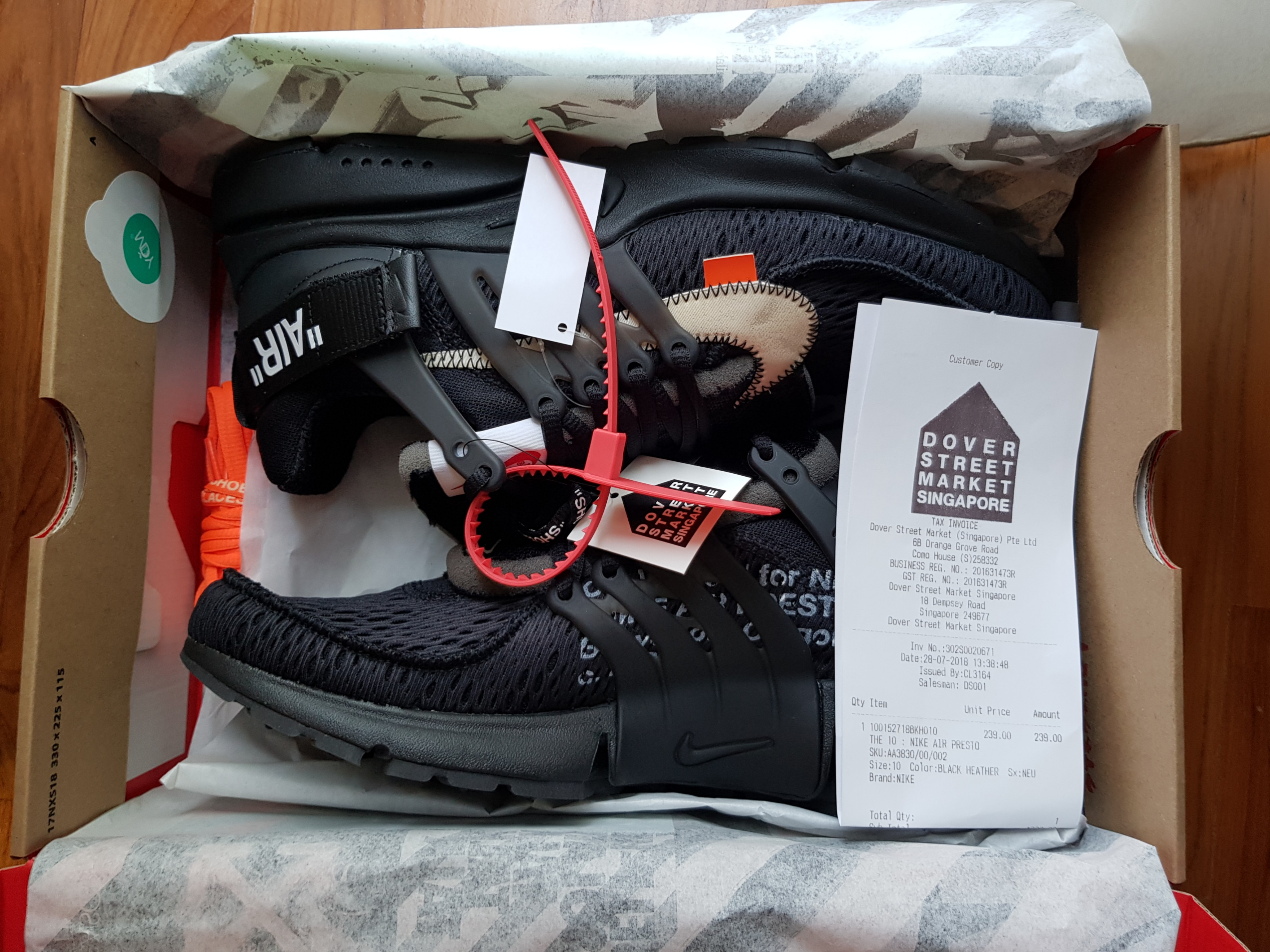 dec6c385bc1f96 Nike Off white presto Black UK 9 US 10