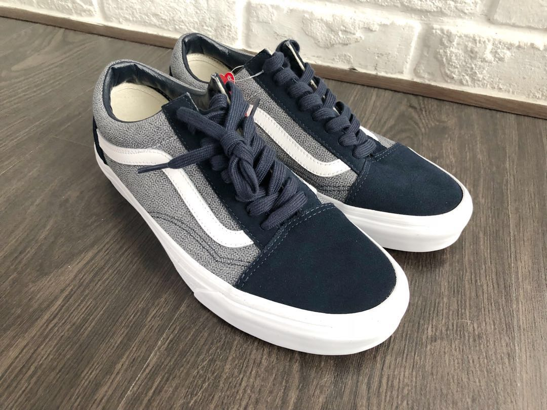 ON-HAND  Vans Old Skool Blueberry Dark Blue White US 7.5 Mens   US 9 ... 84793bbde