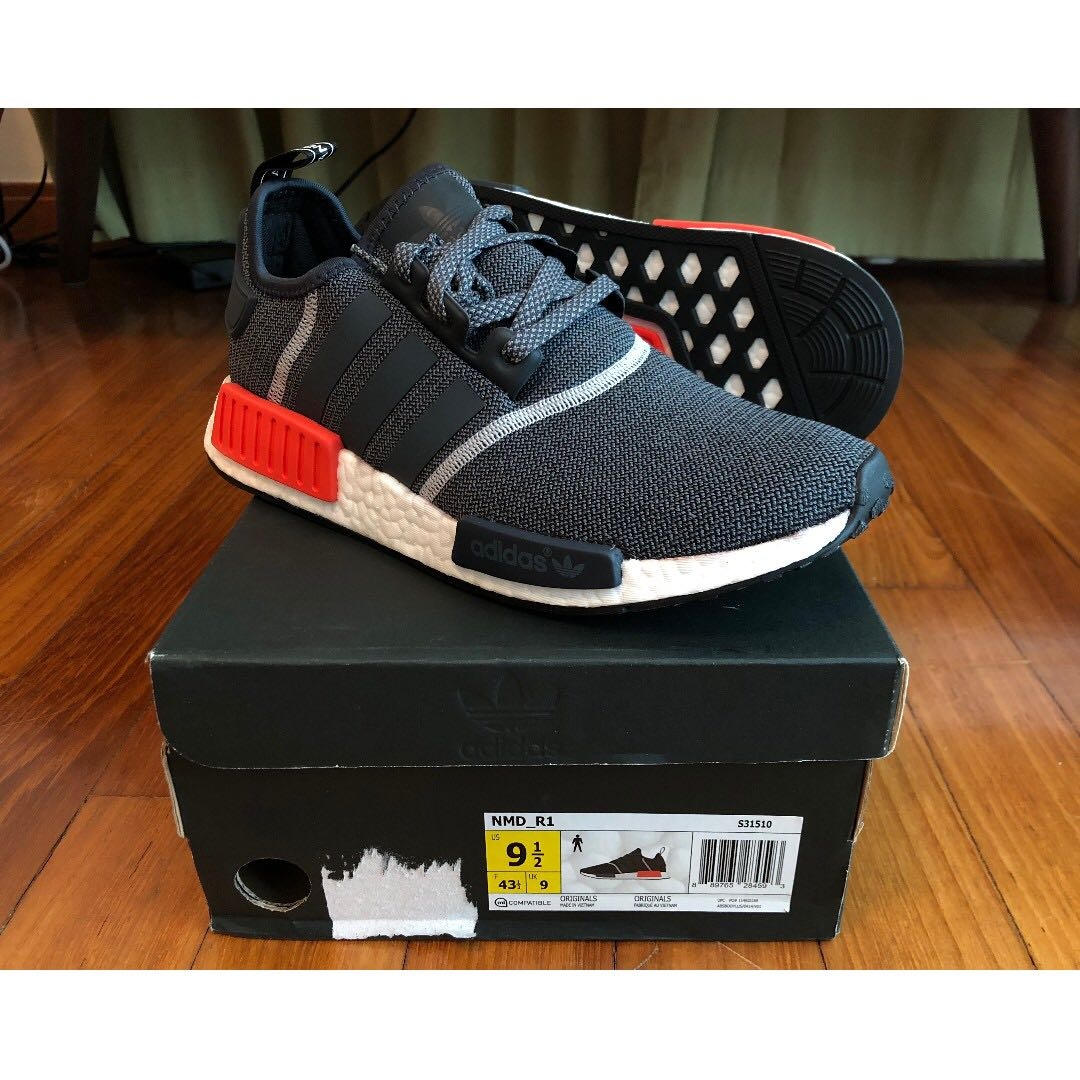 a6eb7bd0a7d3 ONLY  175!!!! RARE Adidas NMD R1 WOOL GREY GRAY REFLECTIVE INFRARED ...