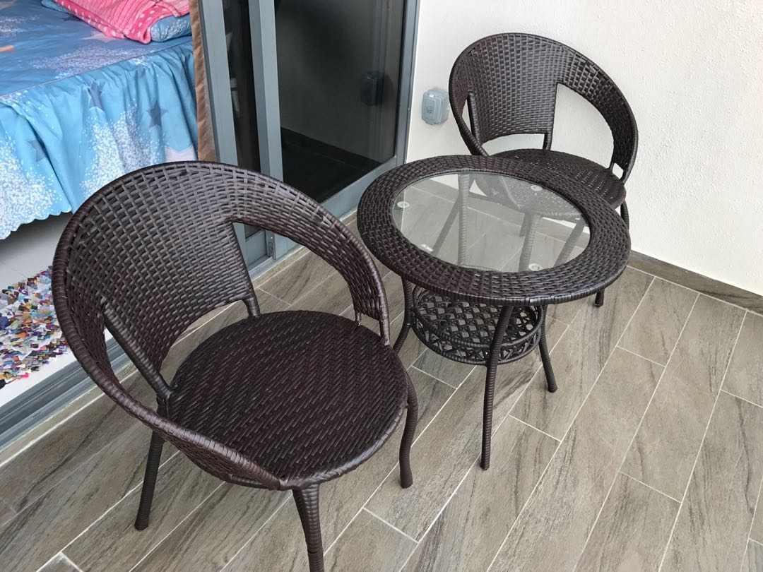 Outdoor Balcony Chair And Table Set Furniture Tables Chairs On