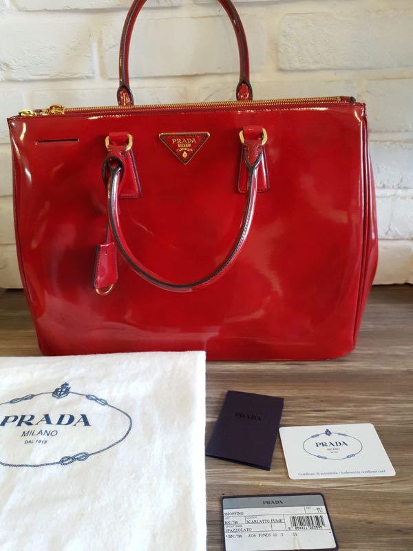 3cbec903e8e768 Prada Patent Plazzolato Handbag, Luxury, Bags & Wallets, Handbags on ...