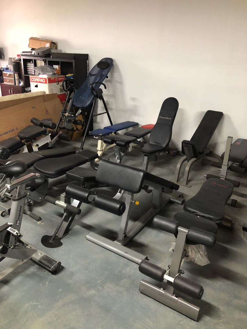 Pre Owned Workout Benches Flat Incline Abs Abdominal Exercise Benches Weight Top Brand Precor Life Fitness And Many More