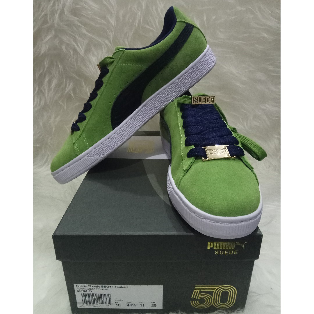 huge selection of 931e7 21b2b Puma Suede Forest Green Peacoat US11