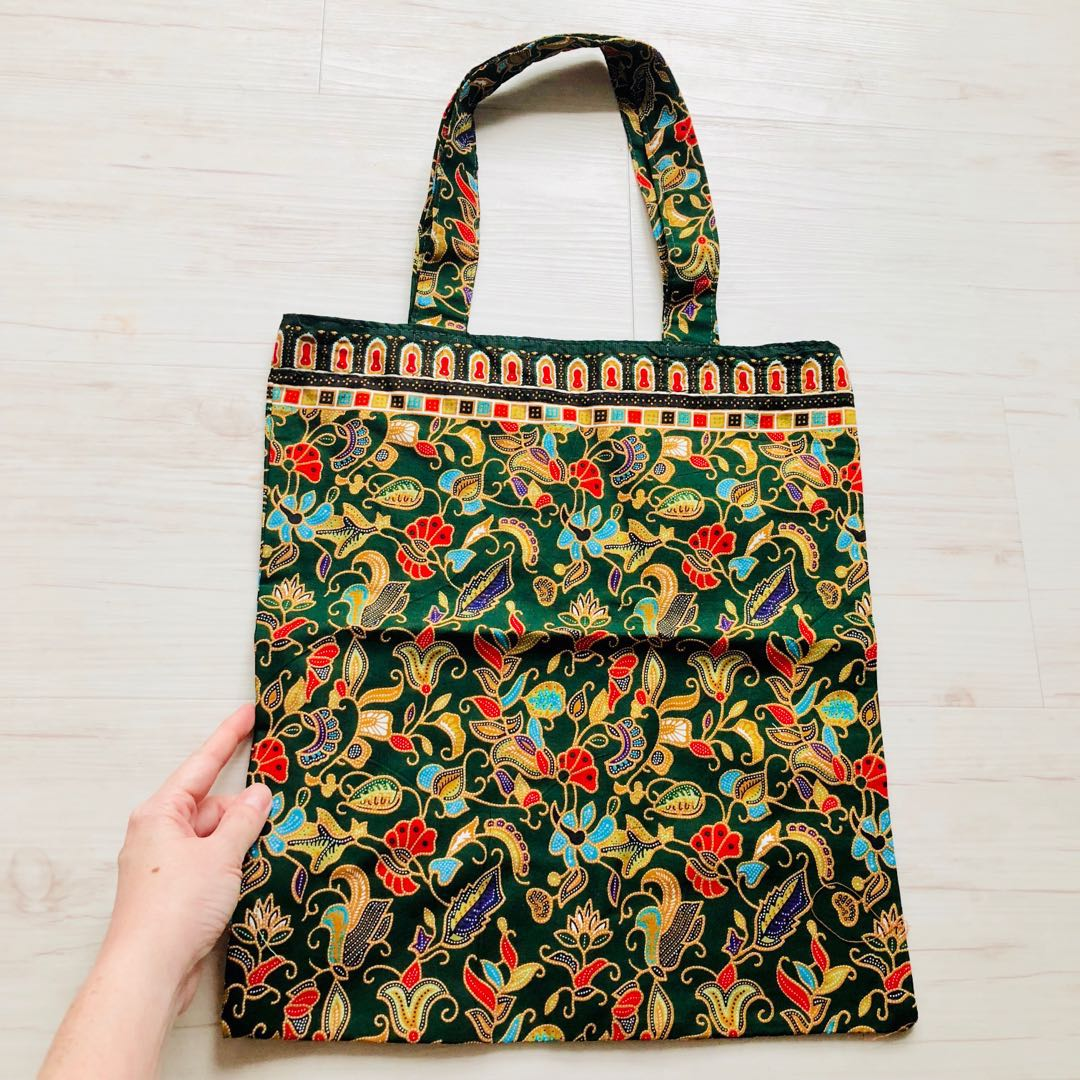 8698c28c1a5367 Reserved - pineapplexxxxx) Batik Tote Bag Handmade in Singapore ...