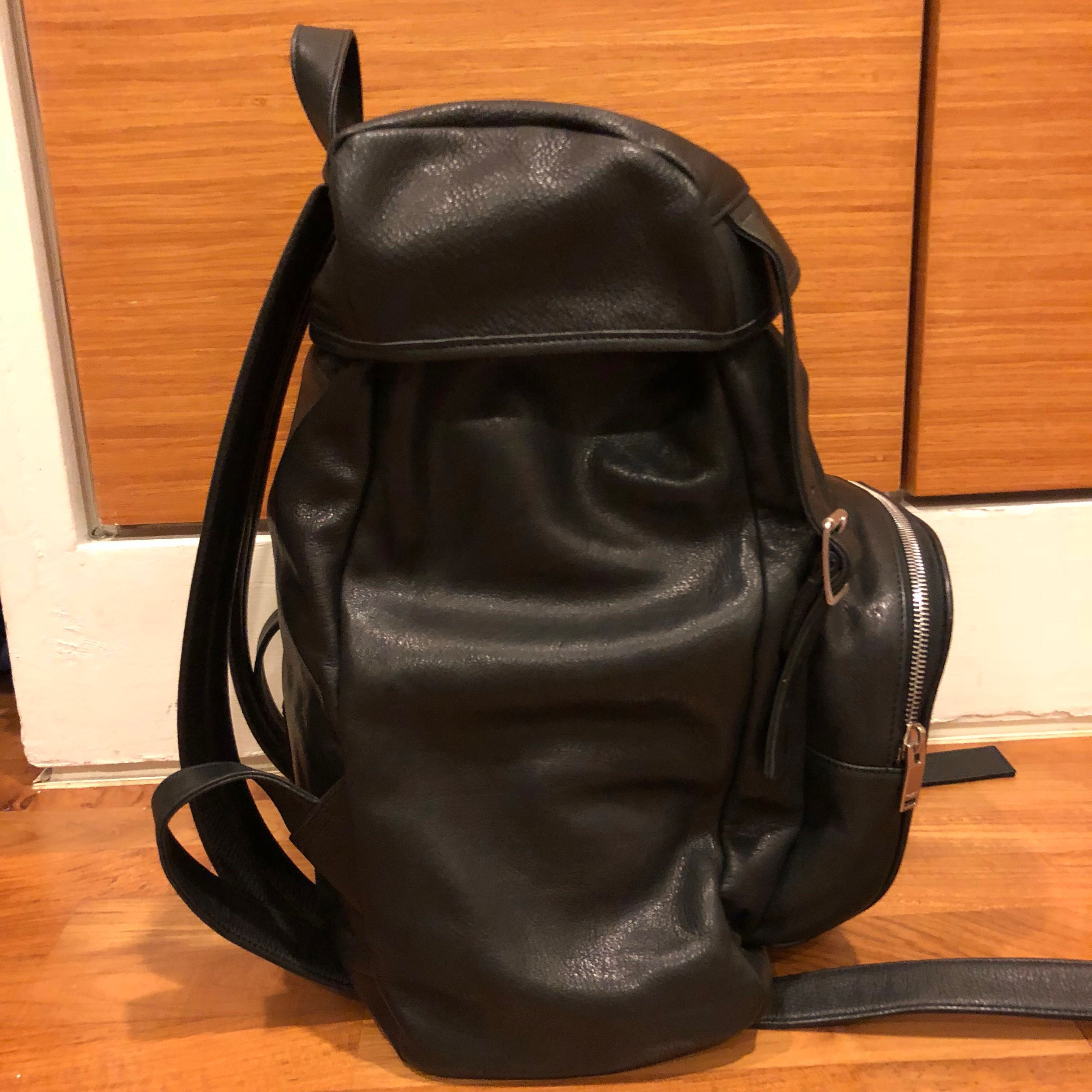ee5934adcc9 Saint Laurent Délavé Rucksack in Black Washed Leather, Luxury, Bags ...