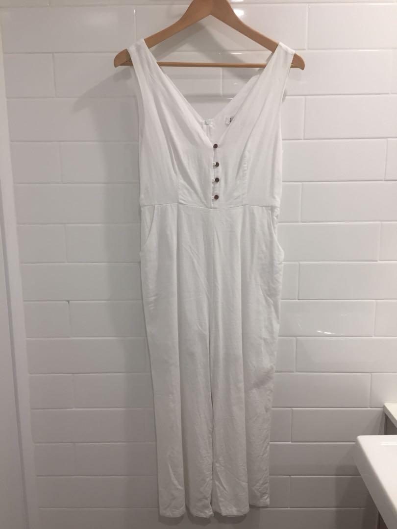 e0c45c70cbd Sunny girl white jumpsuit size 10