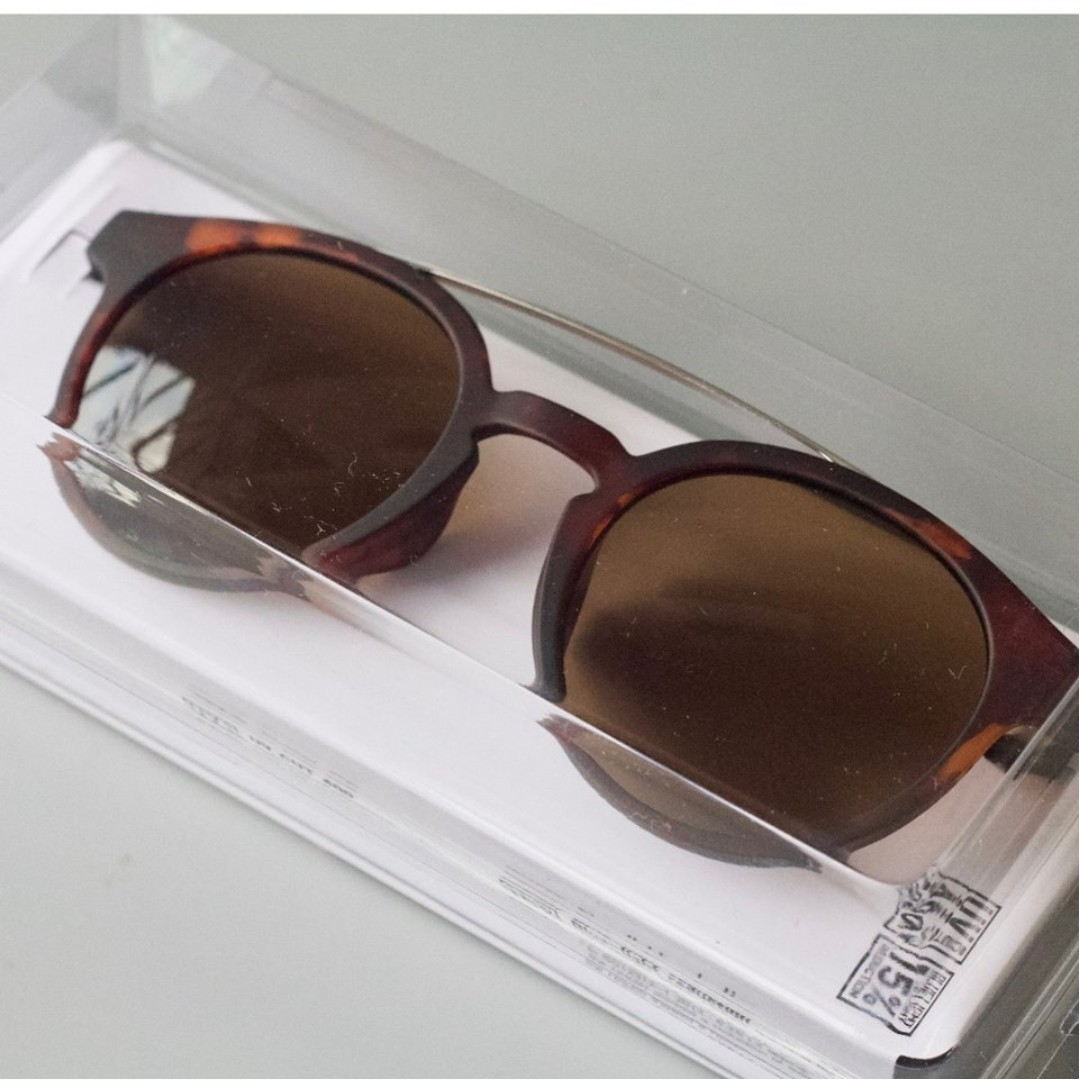 567e5dcdf5a UNIQLO BOSTON BRIDGE SUNGLASSES (Tortoise Brown)