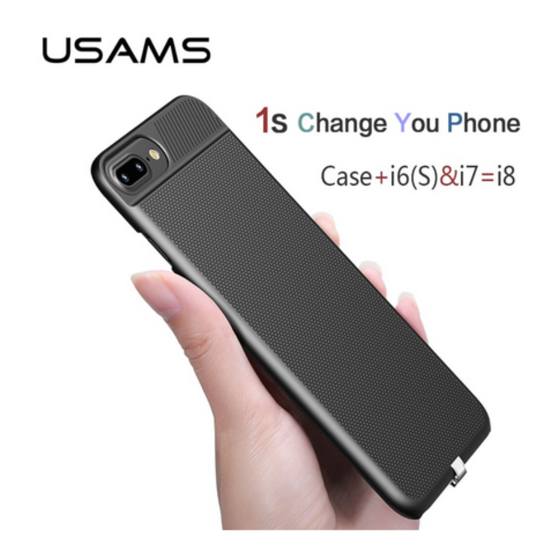 official photos dedc8 b3cf7 USAMS 2 in 1 Wireless Receiver Case Qi Receiver wireless charging for  iphone 6 6s 7&Plus Phone case cover wireless charging case
