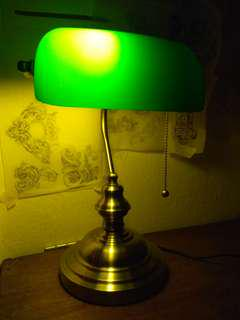 Antique banker lamp