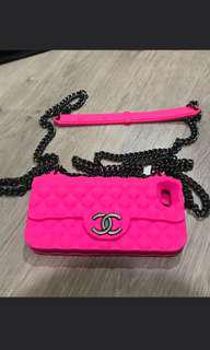 Iphone 5 chanel bag case pink