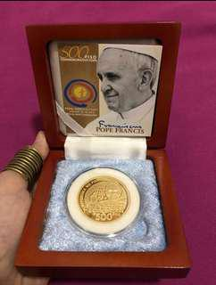 P500-Piso Pope Francis Commemorative Coin (COLLECTOR'S ITEM)