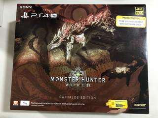 PS4 Pro Monster Hunter: World Rathalos Edition (Local Set)