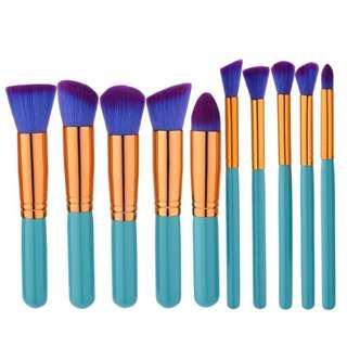 Tosca Purple Kabuki Brush 10 Set