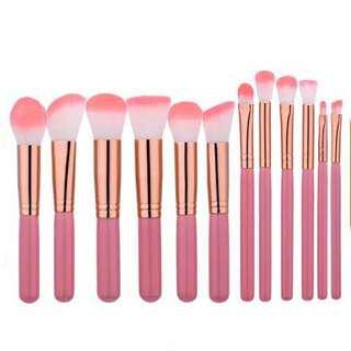 Pink Kabuki Brush 12 Set