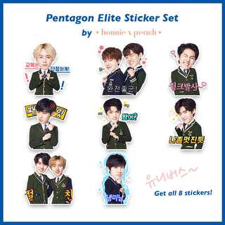 Pentagon Elite Sticker Set