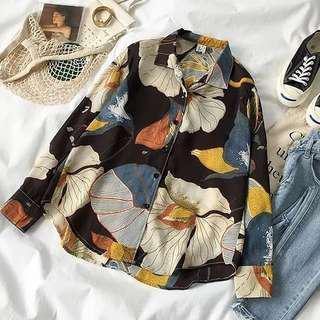 [PO]Patterned Blouse#UNDER90