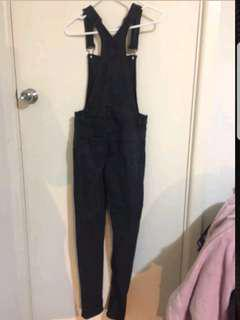 Cheap monday denim overall dungaree  small black