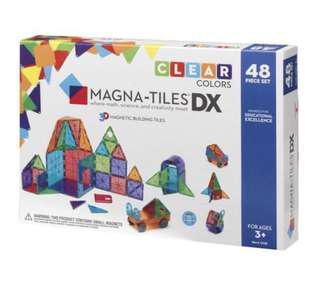 2-5Y NEW 48 Pc Magnatiles Clear Colours