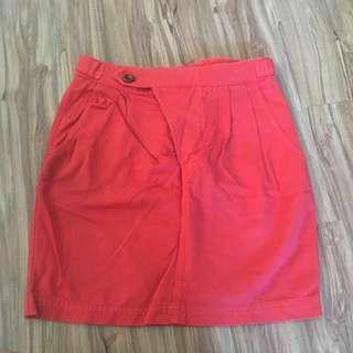🚚 Zara 橘紅色 短裙
