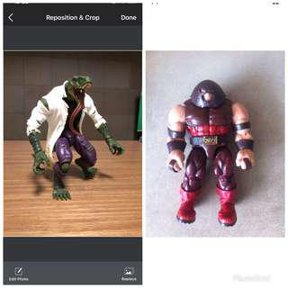 Marvel legends lizard baf trade with juggernaut baf