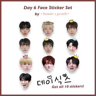 Day 6 Face Sticker Set