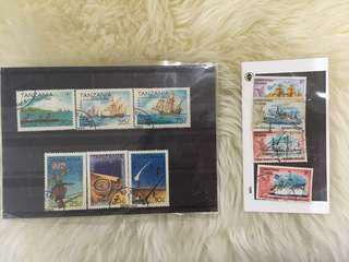 Tanzania 1992 and Christmas island stamps