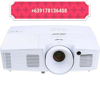 FREE DELIVERY Lcd projector for rent hire screen sound system white