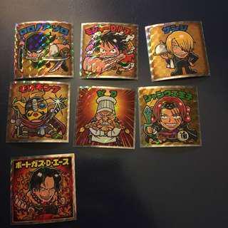 One Piece 海賊王 仙魔大戰 威化餅 貼紙